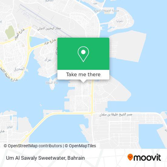 Um Al Sawaly Sweetwater map