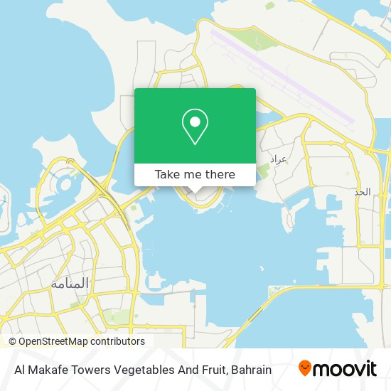 Al Makafe Towers Vegetables And Fruit map