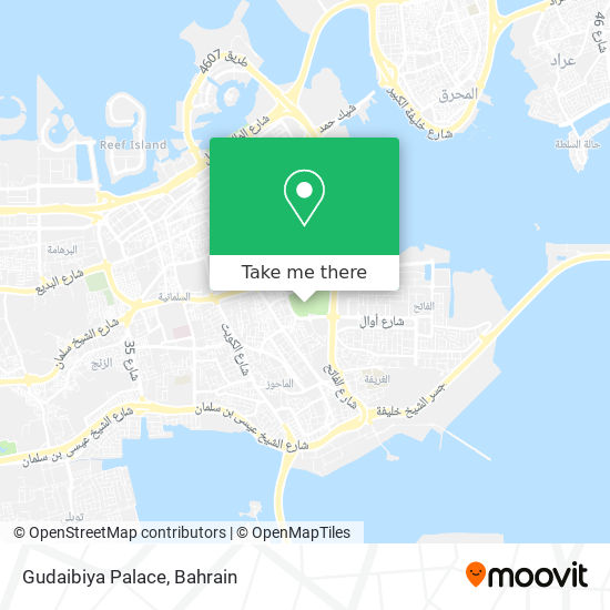 Gudaibiya Palace map