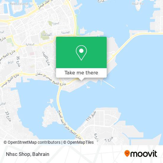 Nhsc Shop map