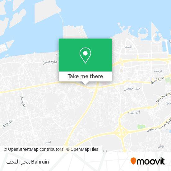 بحر النجف map