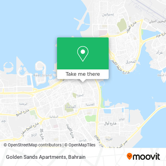 Golden Sands Apartments map