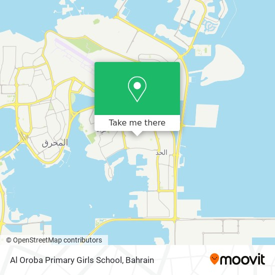 Al Oroba Primary Girls School map