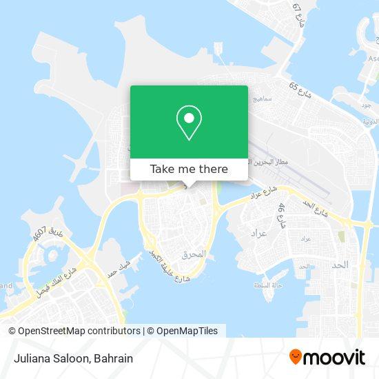Juliana Saloon map