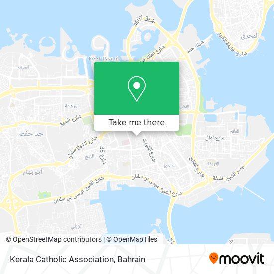 Kerala Catholic Association map