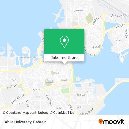 Ahlia University map