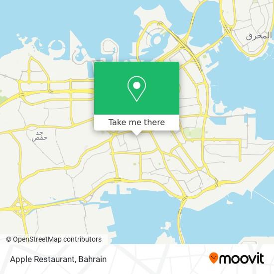 Apple Restaurant map