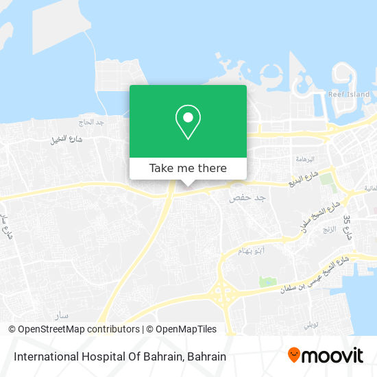 International Hospital Of Bahrain map
