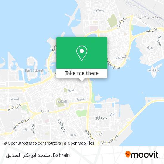 مسجد ابو بكر الصديق map