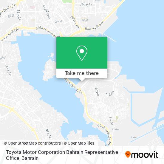 Toyota Motor Corporation Bahrain Representative Office map
