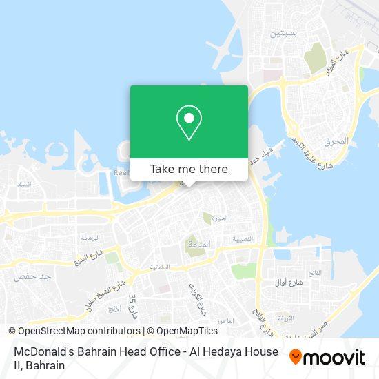 McDonald's Bahrain Head Office - Al Hedaya House II map