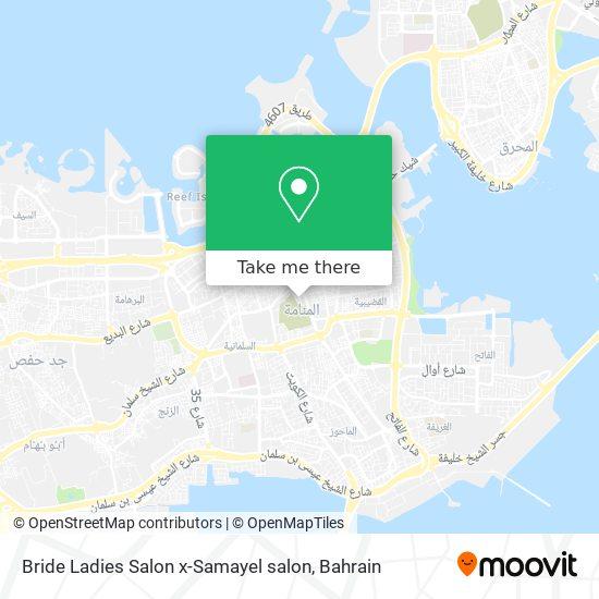 Bride Ladies Salon x-Samayel salon map