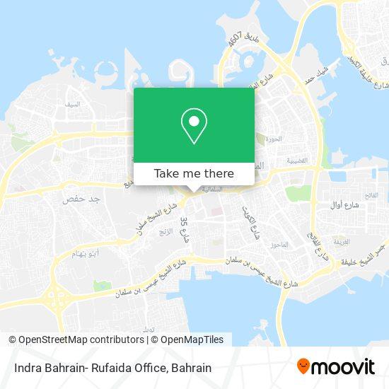 Indra Bahrain- Rufaida Office map
