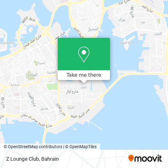 Z Lounge Club map