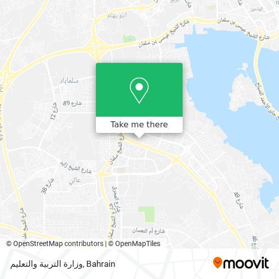 وزارة التربية والتعليم map