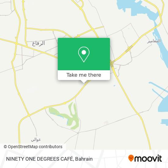 NINETY ONE DEGREES CAFÉ map