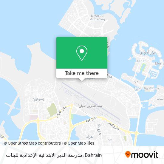 مدرسة الدير الابتدائية الإعدادية للبنات map