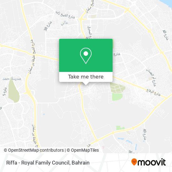 Riffa - Royal Family Council map