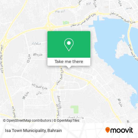 Isa Town Municipality map