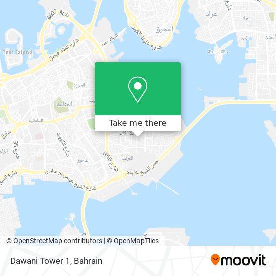 Dawani Tower 1 map