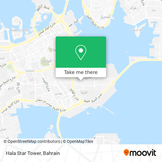 Hala Star Tower map
