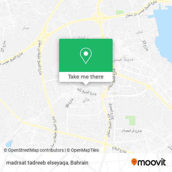 madrsat tadreeb elseyaqa map