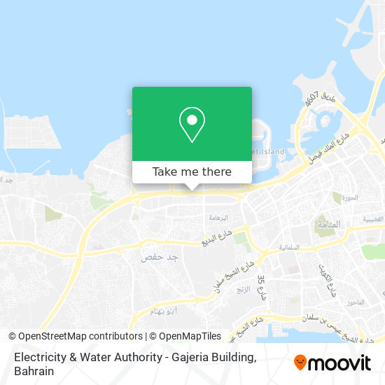 Electricity & Water Authority - Gajeria Building map