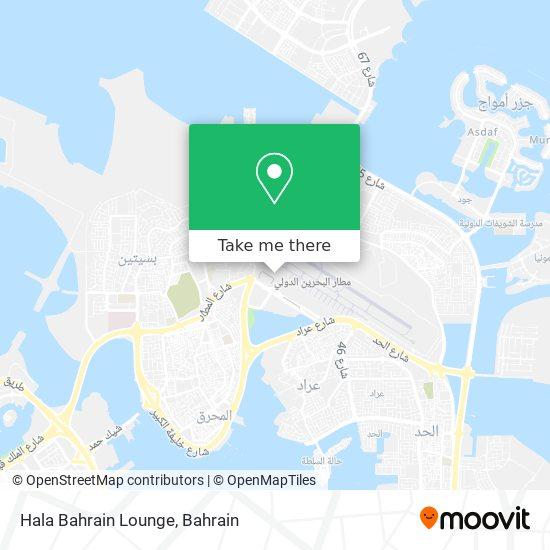 Hala Bahrain Lounge map