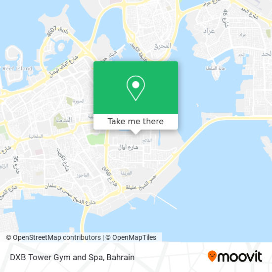 DXB Tower Gym and Spa map