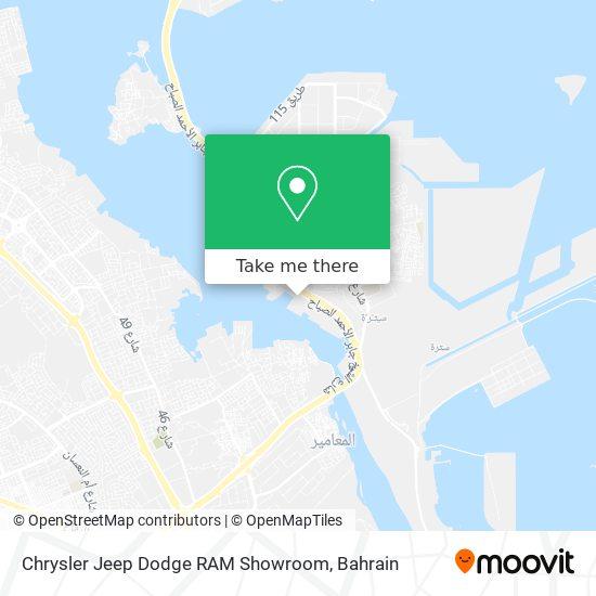 Chrysler Jeep Dodge RAM Showroom map