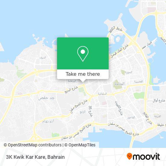 3K Kwik Kar Kare map