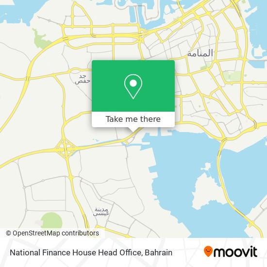 National Finance House Head Office map