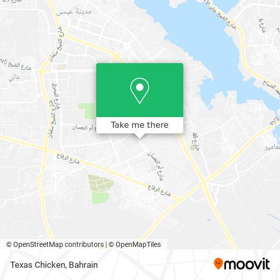 Texas Chicken map