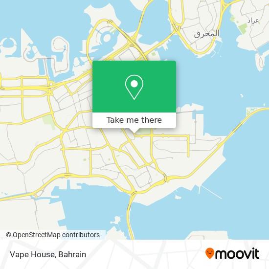 Vape House map