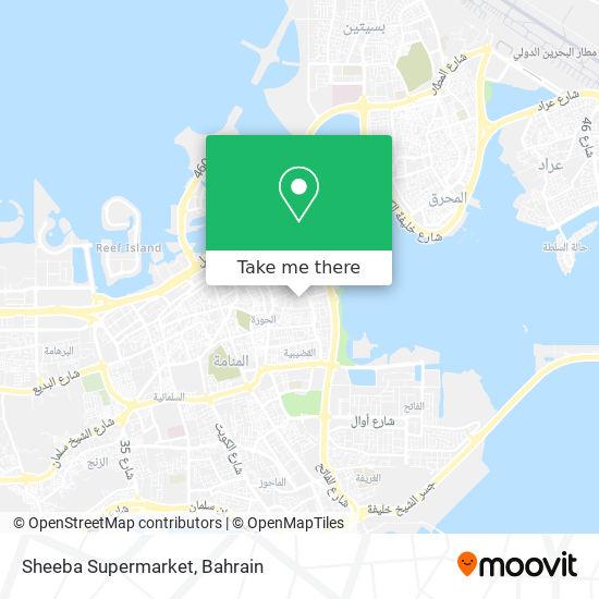 Sheeba Supermarket map