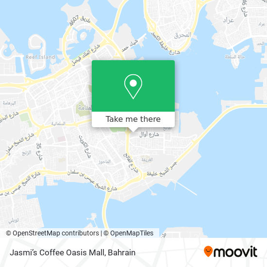 Jasmi's Coffee Oasis Mall map