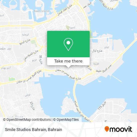 Smile Studios Bahrain map