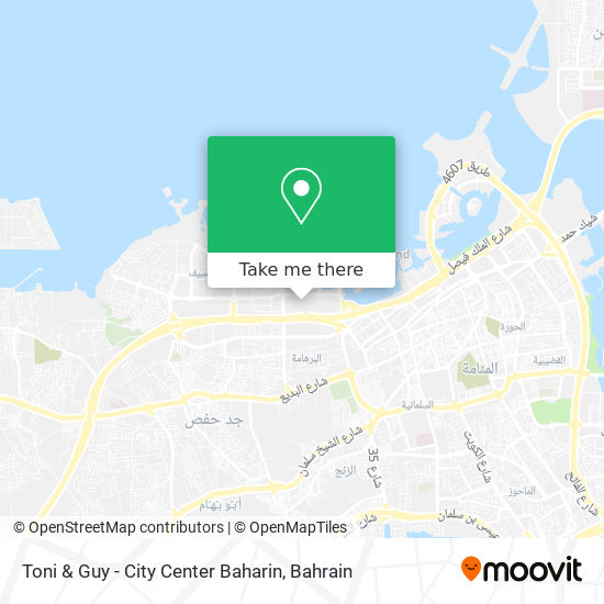 Toni & Guy - City Center Baharin map
