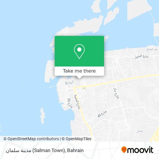 مدينة سلمان (Salman Town) map