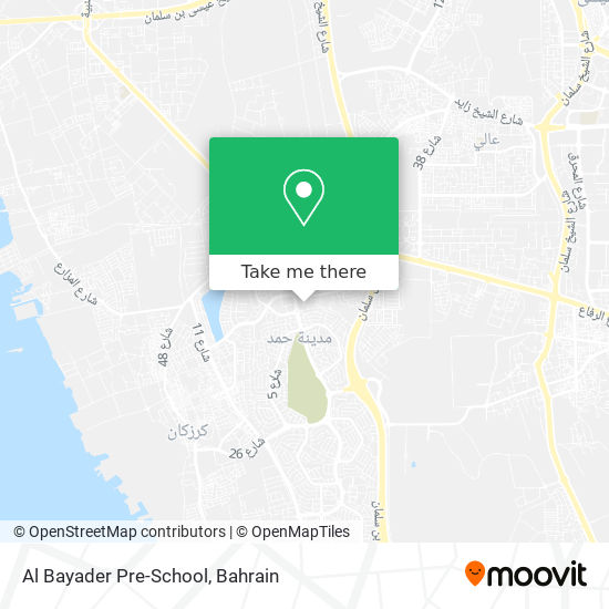 Al Bayader Pre-School map