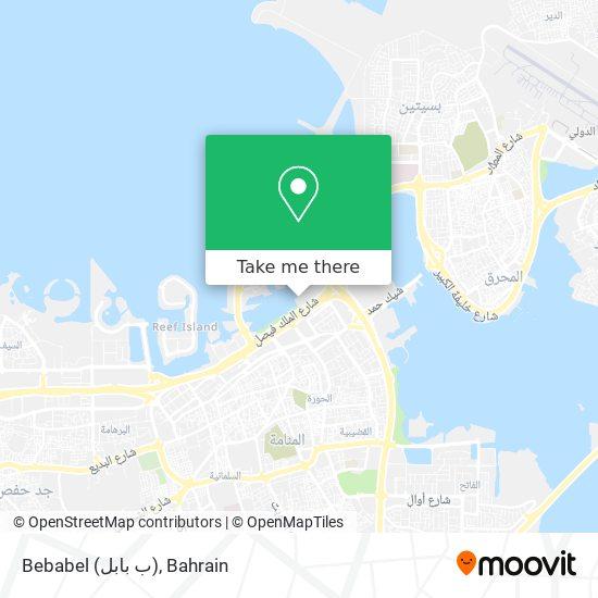 Bebabel (ب بابل) map