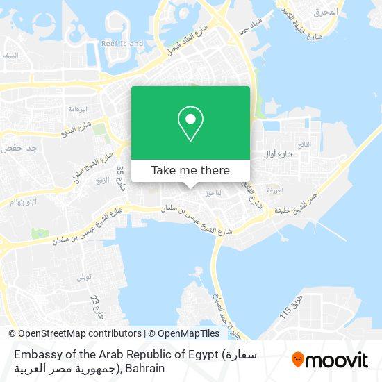 Embassy of the Arab Republic of Egypt (سفارة جمهورية مصر العربية) map
