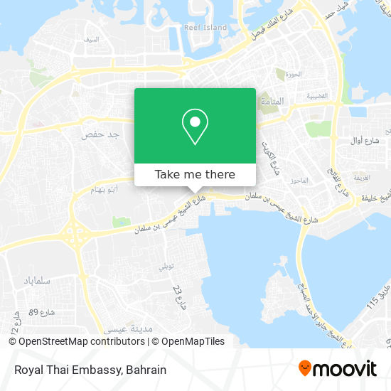 Royal Thai Embassy map