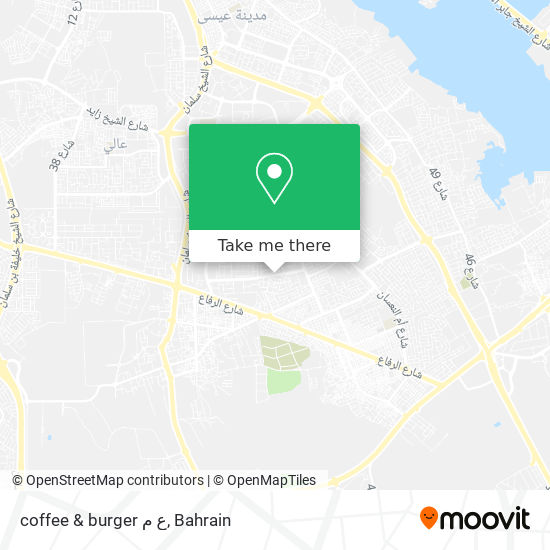 coffee & burger ع م map