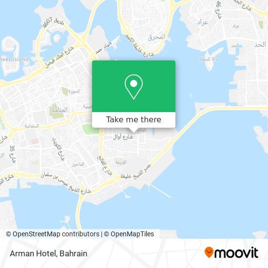 Arman Hotel map