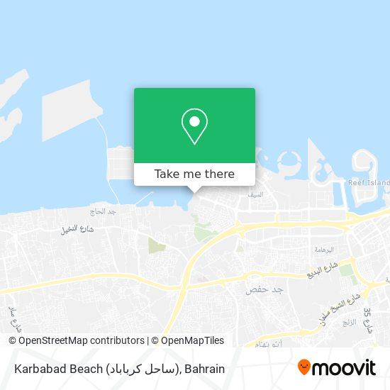 Karbabad Beach (ساحل كرباباد) map
