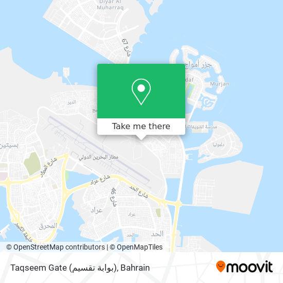 Taqseem Gate (بوابة تقسيم) map