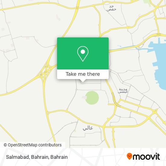 Salmabad, Bahrain map