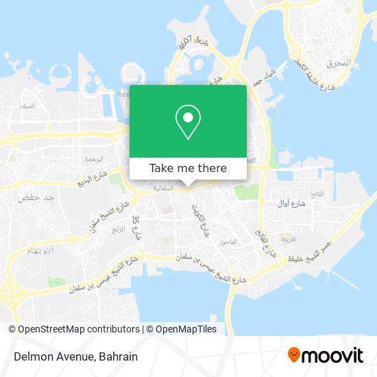 Delmon Avenue map