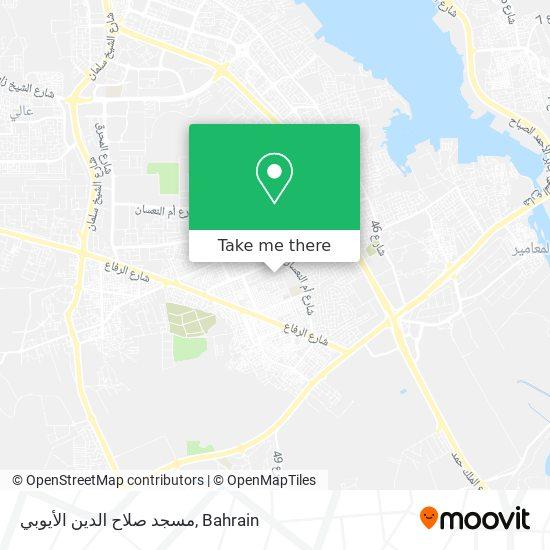 مسجد صلاح الدين الأيوبي map
